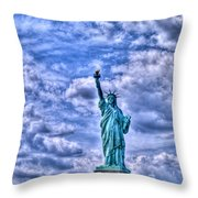 Lady L Throw Pillow