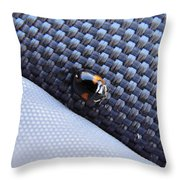 Lady Ladybug And Artificial Surfaces Throw Pillow