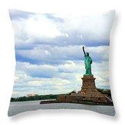 Lady Liberty B Throw Pillow