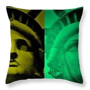 Lady Liberty For All Throw Pillow