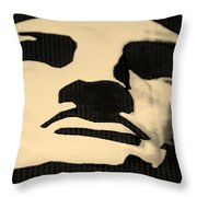 Lady Liberty In Dark Sepia Throw Pillow