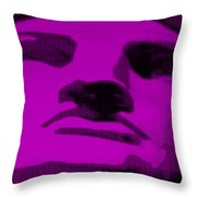 Lady Liberty In Purple Throw Pillow