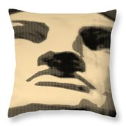Lady Liberty In Sepia Throw Pillow