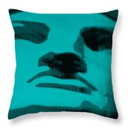 Lady Liberty In Turquois Throw Pillow