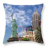 Lady Liberty In Vegas Throw Pillow
