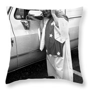 Lady Liberty Marge Stukel Parade Tucson Arizona Black And White Throw Pillow