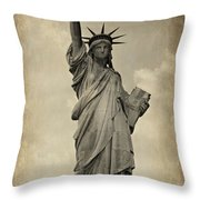 Lady Liberty No 11 Throw Pillow