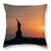 Lady Liberty Throw Pillow by Ray Warren