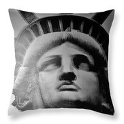 Lady Liberty Red White And Blue Throw Pillow