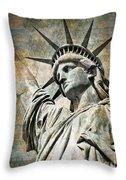 Lady Liberty Vintage Throw Pillow