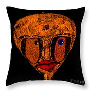 Lady Mars Throw Pillow