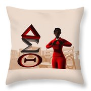 Lady Of Dst Throw Pillow