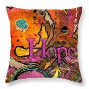 Lady Of Hope - A Breast Cancer Donation Throw Pillow