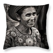 Lady Of Santiago Atitlan Throw Pillow