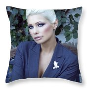 Lady Of Solitude Palm Springs Throw Pillow
