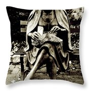 Lady Of Stone B Throw Pillow