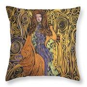 Lady Of Swirl Throw Pillow