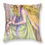 Lady Of The Forest Throw Pillow