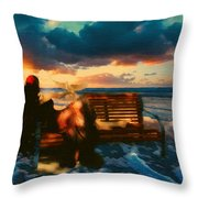 Lady Of The Ocean Throw Pillow