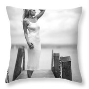 Lady On A Base 4 Throw Pillow