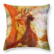 Lady On A Boat Throw Pillow