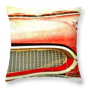 Lady On Red Throw Pillow
