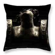 Lady On The City Hall Throw Pillow
