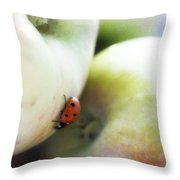 Lady On The Macs Throw Pillow