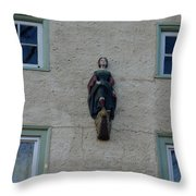 Lady On The Wall Throw Pillow