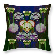 Lady Panda Welcomes Spring In Love And Light And Peace Throw Pillow