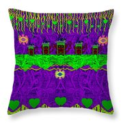 Lady Pandas Friends With Hat On Throw Pillow
