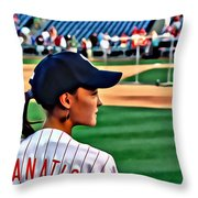 Lady Phanatic Throw Pillow