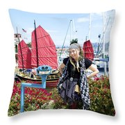 Lady Pirate And Friend Throw Pillow
