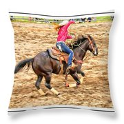 Lady Roping Throw Pillow