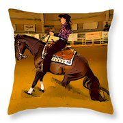 Lady Slide Throw Pillow