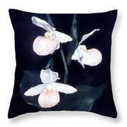 Lady Slipper Throw Pillow