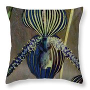 Lady Slipper Secret Garden Throw Pillow