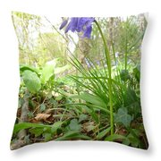 Lady Spencer's Bluebell Throw Pillow