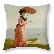 Lady Tennyson On Afton Downs Throw Pillow