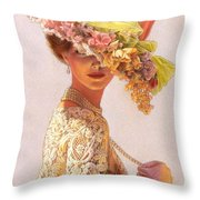 Lady Victoria Victorian Elegance Throw Pillow