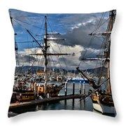 Lady Washington - Hawiian Chieftain Throw Pillow