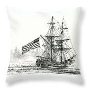 Lady Washington At Friendly Cove Throw Pillow