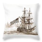 Lady Washington At Friendly Cove Sepia Throw Pillow