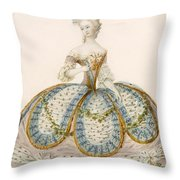 Lady Wearing Dress For A Royal Throw Pillow