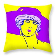 Lady With Hat 1c Throw Pillow