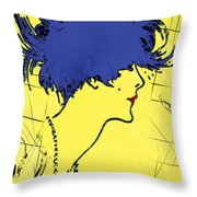 Lady With Hat 2c Throw Pillow