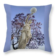 Lady With The Light Throw Pillow