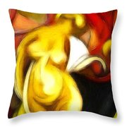 Lady Y. Throw Pillow