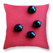 Ladybirds In Formation Throw Pillow