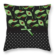 Ladybug Connection Throw Pillow
